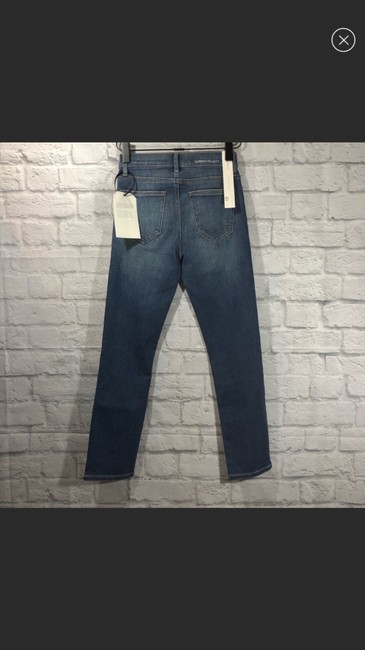 Current/Elliott Straight Leg Jeans-Light Wash Image 4