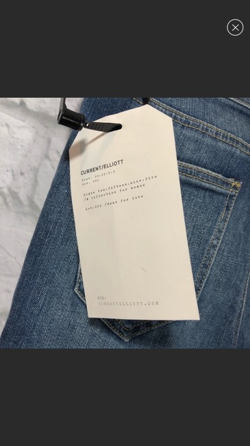 Current/Elliott Straight Leg Jeans-Light Wash Image 5
