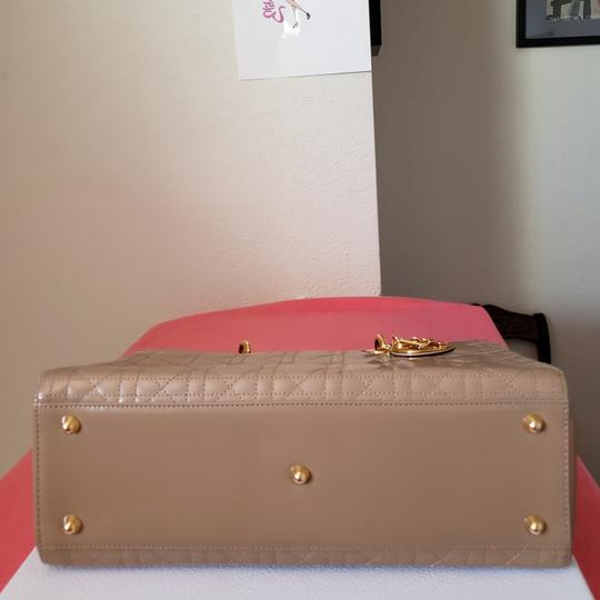 Dior Lady Large Purse Tote in Beige Image 1