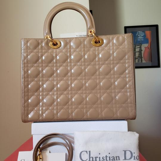 Dior Lady Large Purse Tote in Beige Image 2