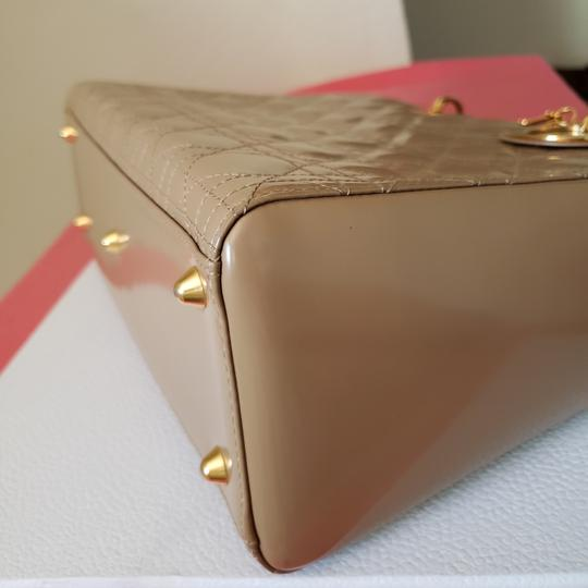 Dior Lady Large Purse Tote in Beige Image 5