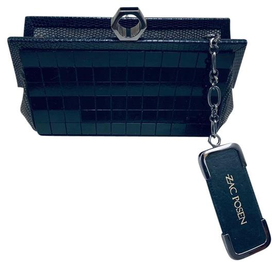 Preload https://img-static.tradesy.com/item/26039922/zac-posen-lacquer-python-black-lucite-and-leather-clutch-0-2-540-540.jpg