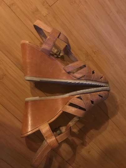 Frye Tan Wedges Image 1