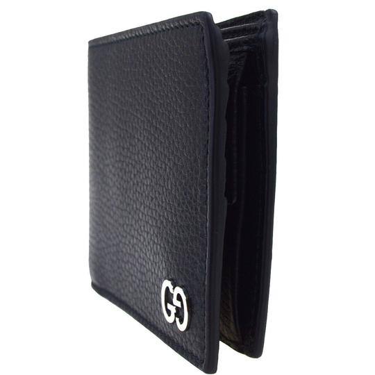 Gucci GUCCI GG Long Bifold Wallet Purse Leather Black Made In Italy Image 1