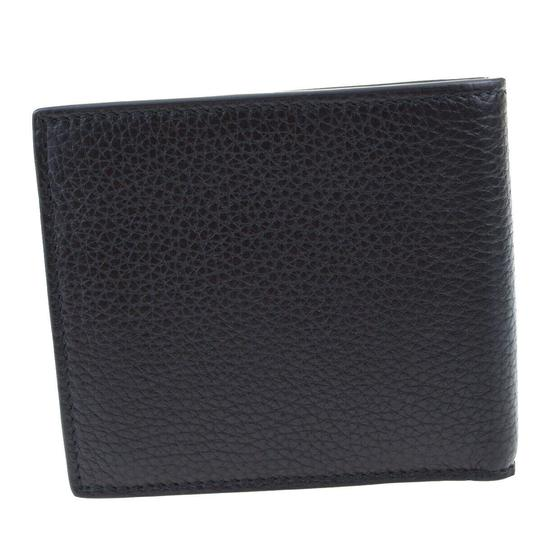 Gucci GUCCI GG Long Bifold Wallet Purse Leather Black Made In Italy Image 2