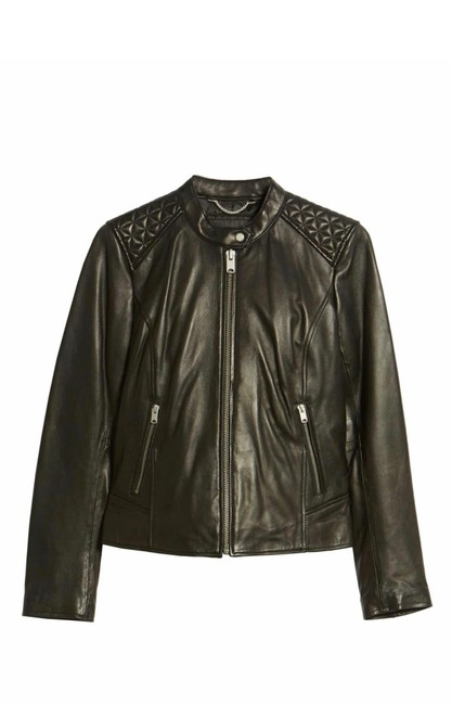 Andrew Marc black Leather Jacket Image 1