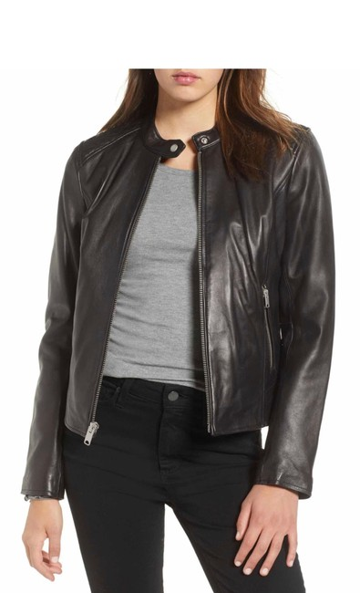 Andrew Marc black Leather Jacket Image 3