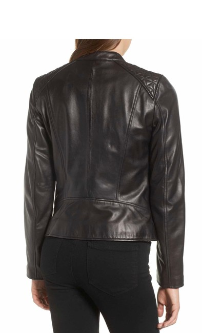 Andrew Marc black Leather Jacket Image 4