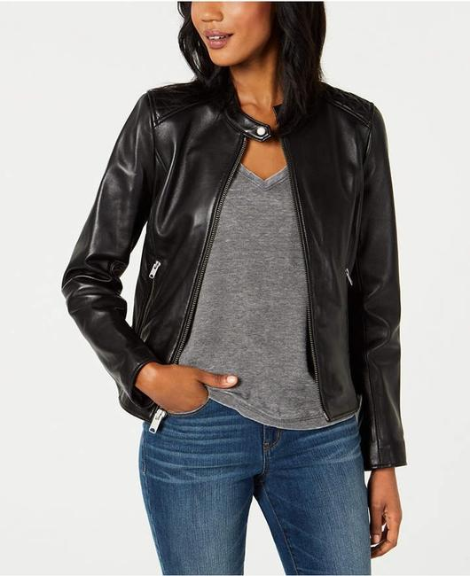 Andrew Marc black Leather Jacket Image 6