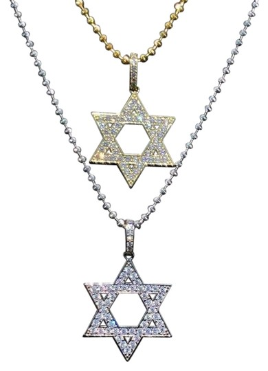 Preload https://img-static.tradesy.com/item/26040010/gold-925-silver-iced-out-magen-star-of-david-jewish-charm-0-3-540-540.jpg