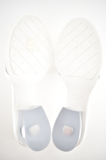 Chanel Chain Slide Slides white Sandals Image 10