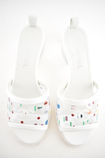 Chanel Chain Slide Slides white Sandals Image 3