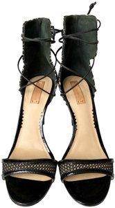 Reed Krakoff Python Ankle Tie & Stiletto Sexy Black and White Sandals