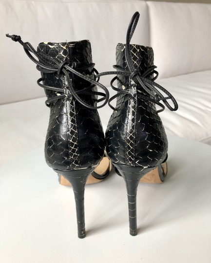 Reed Krakoff Python Ankle Tie & Stiletto Sexy Black and White Sandals Image 5