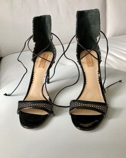 Reed Krakoff Python Ankle Tie & Stiletto Sexy Black and White Sandals Image 7