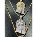 Harlembling Harlembling Solid 925 Silver Icy 2ct Diamond Jesus Piece Pendant Image 7