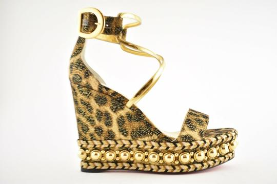 Christian Louboutin Pigalle Stiletto Classic Galeria Studded black Wedges Image 1