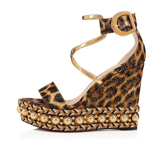 Christian Louboutin Pigalle Stiletto Classic Galeria Studded black Wedges Image 2