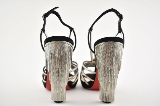 Christian Louboutin Stiletto Ankle Strap Jeanarlow Chain Crystal black Pumps Image 10