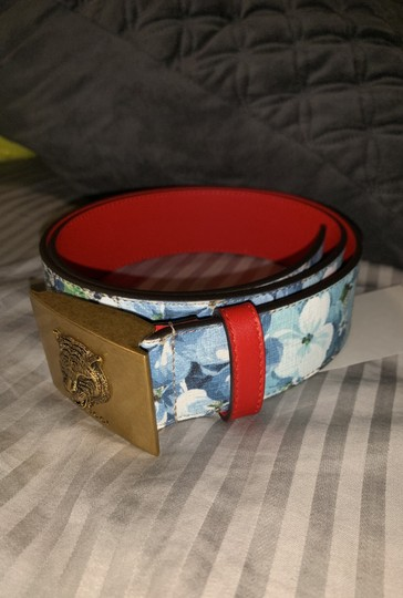 Gucci Gucci gg blue blooms flower belt size small Image 3