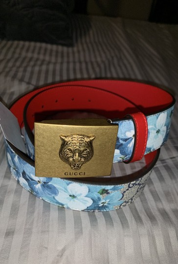 Gucci Gucci gg blue blooms flower belt size small Image 8