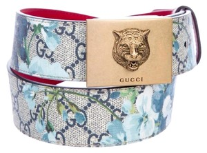 Gucci Gucci gg blue blooms flower belt size small