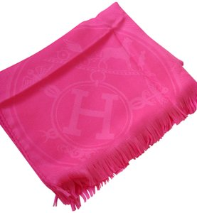Hermès Hermes Pink cashmere and silk shawl