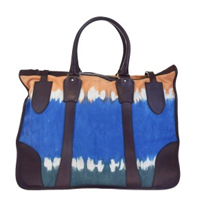 Balenciaga Made In Italy Tote in Brown Blue