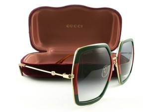 Gucci New GUCCI Sunglasses GGG0106S 007 Gold Red Green Frame w/Grey Gradient