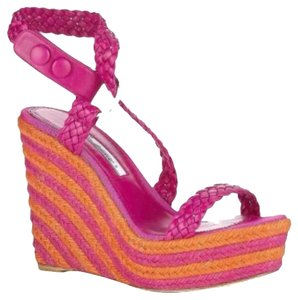 Brian Atwood Hot Pink Wedges