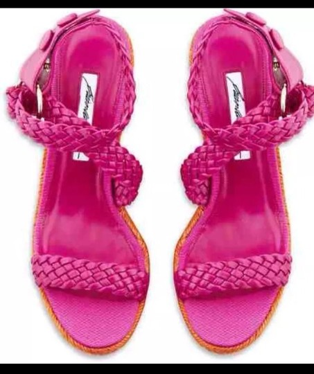 Brian Atwood Hot Pink Wedges Image 1