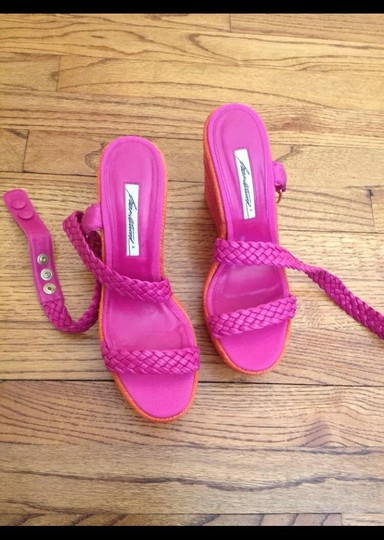 Brian Atwood Hot Pink Wedges Image 4