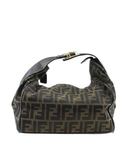 Fendi Cosmetic Canvas Brown Travel Bag