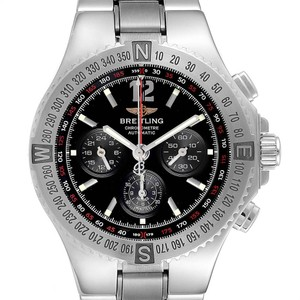 Breitling Breitling Hercules Black Dial Chronograph Steel Mens Watch A39362
