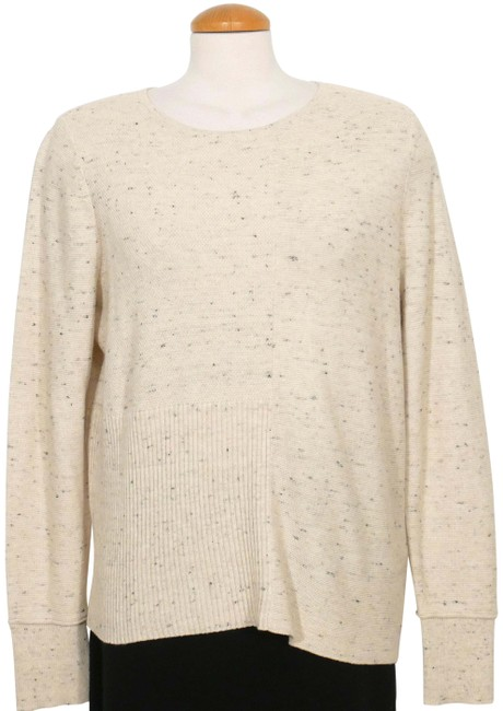 Item - Peppered Cotton Wool Mixed Stitch Maple Oat Beige Sweater