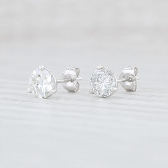 White Gold 1 27ctw Diamond Stud 14k Round Solitaires Earrings