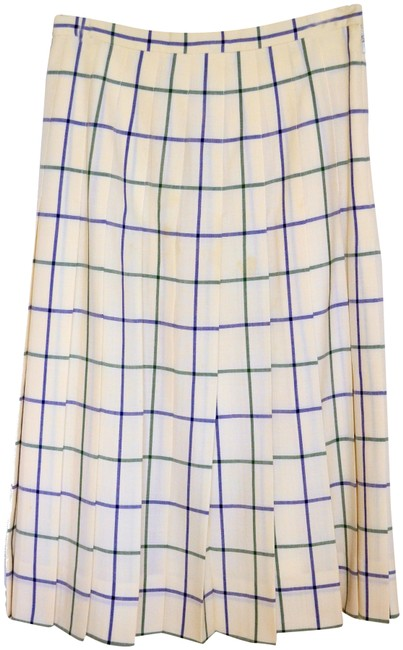 Preload https://img-static.tradesy.com/item/26041676/burberry-cream-and-blue-vintage-skirt-size-8-m-29-30-0-2-650-650.jpg