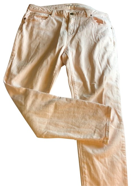 Item - Pink Light Wash Pale (R48) Straight Leg Jeans Size 12 (L, 32, 33)