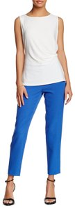 Anne Klein Crepe Capri/Cropped Pants Blue
