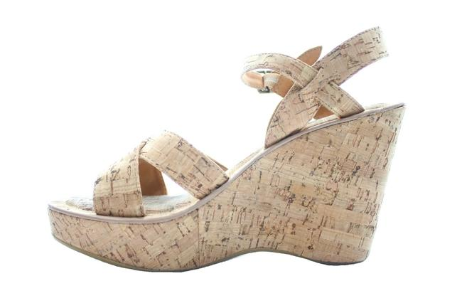 "Item - Tan ""Bette"" Cork Wedge Sandals Size US 9 Regular (M, B)"