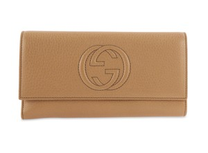 Gucci Soho Tan Leather Continental Wallet