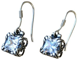 Silpada Sterling Silver and Cubic Zirconia Earrings