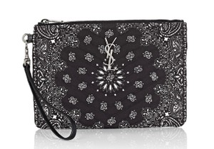 Saint Laurent Wristlet in Bandana-Print