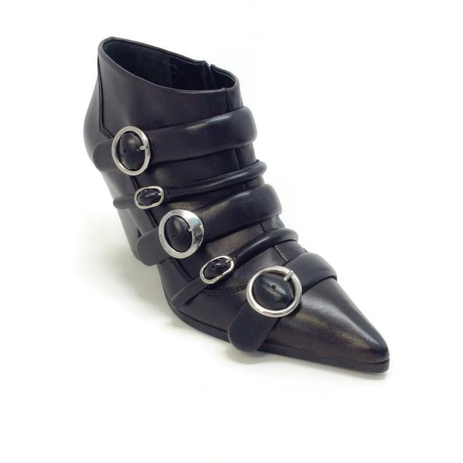Item - Black Leather Multi Buckle Ankle Boots/Booties Size EU 38 (Approx. US 8) Regular (M, B)
