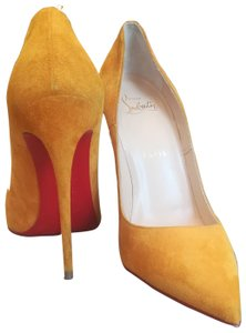 Christian Louboutin So Kate Suede Yellow Pumps