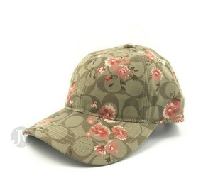 Coach BRAND NEW WOMEN'S COACH FLORAL ADJUSTABLE STRAPBACK BASEBALL CAP HAT