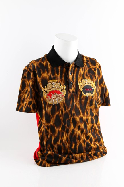 Item - Multicolor Animalier Embroidered Polo Shirt