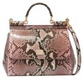 Dolce&Gabbana Snakeskin Runway Chic Exclusive Shoulder Bag
