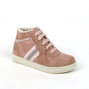 Gucci Powder Pink Suede Fur Lined Sneaker 24 / Us 8 297473 6968 Shoes