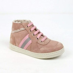 Gucci Powder Pink Suede Fur Lined Sneaker 25 / Us 9 297473 6976 Shoes